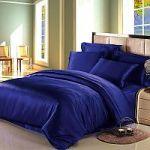 Синее постельное белье из шелка | SPIM.RU - Москва | 8-800-555-60-55