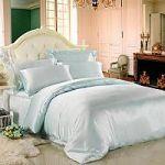 Бирюзовое постельное белье из шелка | SPIM.RU - Москва | 8-800-555-60-55