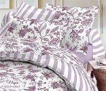 Фиолетовое постельное белье Праймтекс из перкаля | SPIM.RU - Москва | 8-800-555-60-55