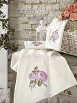 Сиреневые полотенца с вышивкой | SPIM.RU - Москва | 8-800-555-60-55