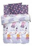 Фиолетовое постельное белье с животными Непоседа | SPIM.RU - Москва | 8-800-555-60-55