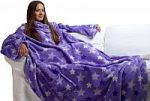 Фиолетовые пледы с рукавами . Купите плед с рукавами фиолетового цвета в интернет-магазине!   SPIM.RU - Москва