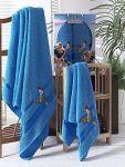 Голубые хлопковые полотенца Two dolphins | SPIM.RU - Москва | 8-800-555-60-55