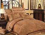 Коричневое постельное белье с орнаментом | SPIM.RU - Москва | 8-800-555-60-55