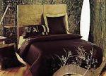 Бордовое постельное белье с вышивкой | SPIM.RU - Москва | 8-800-555-60-55