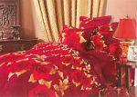 Бордовое постельное белье из жаккарда | SPIM.RU - Москва | 8-800-555-60-55