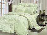 Зеленое постельное белье из жаккарда | SPIM.RU - Москва | 8-800-555-60-55