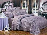 Сиреневое постельное белье с вышивкой | SPIM.RU - Москва | 8-800-555-60-55