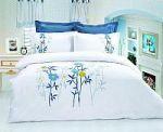 Синее постельное белье с вышивкой | SPIM.RU - Москва | 8-800-555-60-55